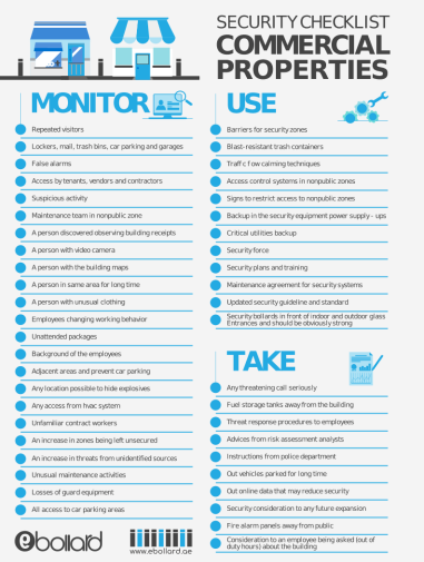 Building Security Checklist infographic